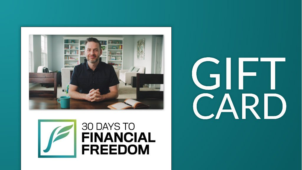30 Days to Financial Freedom GIft Cards
